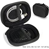 CaseSack Golf Course GPS Case for GolfBudy Voice, Voice 2, Bushnell NeoGhost, Garmin 010-01959-00 Approach G10, Mesh pouches on both lid and base for GPS and cable separatedly (Ballistic Black)