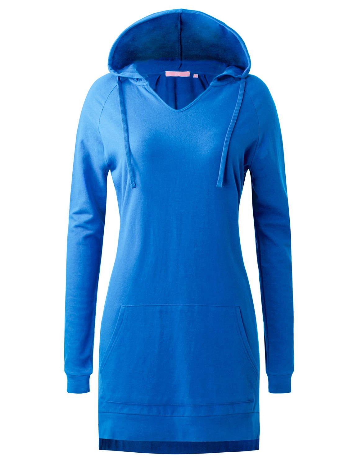 Regna X Women's Long Sleeve Casual Relaxed fit Sweatshirt Hoodie Top Blue 2XL