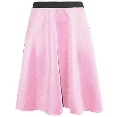 Women Flared Knee Length Skater Skirt Ladies Stretch Midi Office Work Skirt  8-20 ( 39c58d433