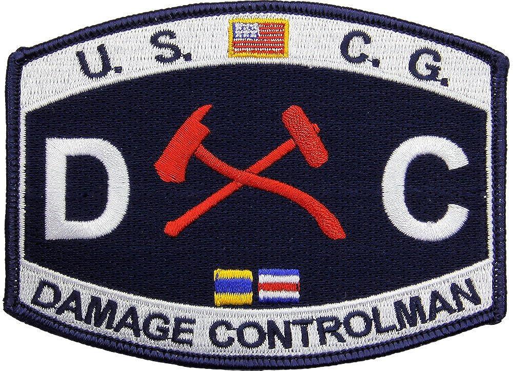 USCG Rate D C Damage Controlman Patch Full Color /…