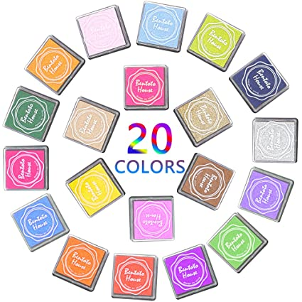 Almohadillas de tinta tampón de tinta, bukm Multi Color arco iris ...