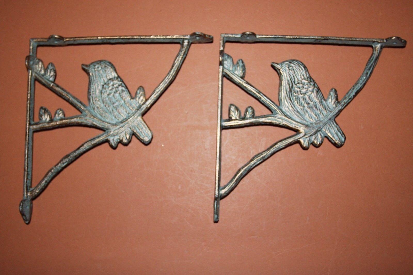 (7) Bronze-look Bird Shelf Brackets, Cast Iron, Corbels, Country Bird Decor,B-44 by Dapeshop