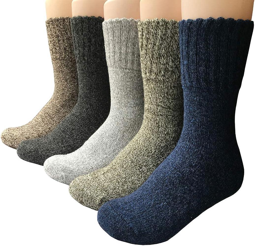 KOOYOL Hombre calcetines de algodón calcetines térmicos Adulto Unisex invierno cálido Calcetines: Amazon.es: Ropa y accesorios