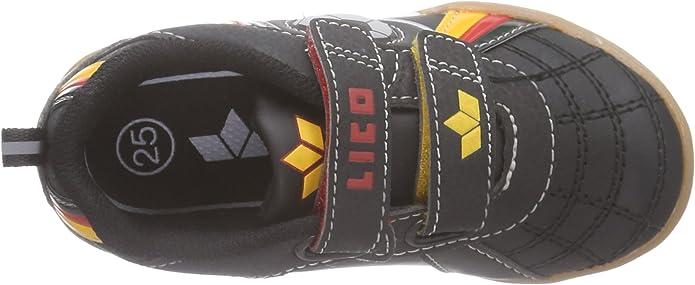 LICO Nikos V 360254 Jungenschuhe Sneaker schwarz//rot//gold
