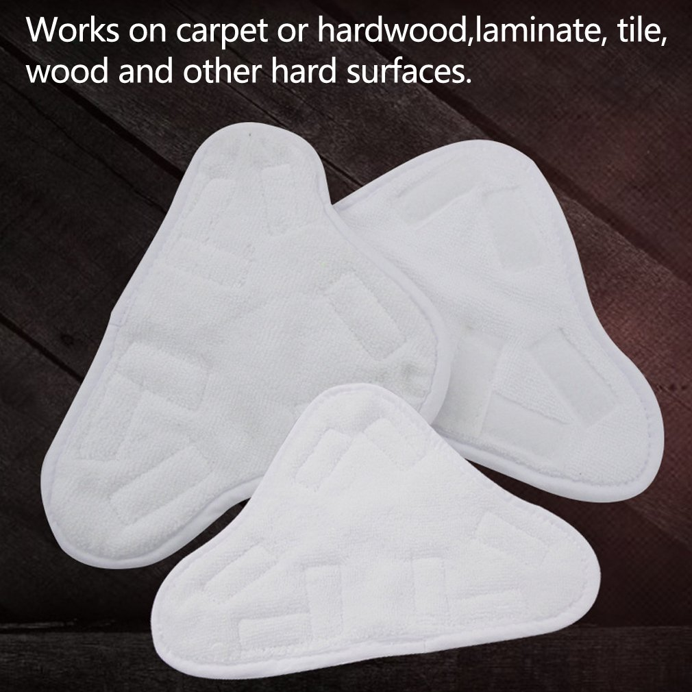Amariver Microfiber Replacement Mop Floor Washable Pads for Steam Mops H2O H20 X5 Steam Duster Microfiber Cleaning Pads, Set of 9, White