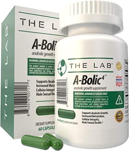 A-Bolic4 Advanced Anabolic Boost Supplement Support Powerful Anabolic Growth and Testosterone with Turkesterone, Apigenin, and EMIQ 60 Capsules