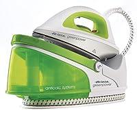 Ariete stiromatic greenPower rechargeable fer générateur de vapeur à autonomie illimitée, plaque en céramique, réservoir amovible, 2200W, 1,5L, plastique, blanc/vert