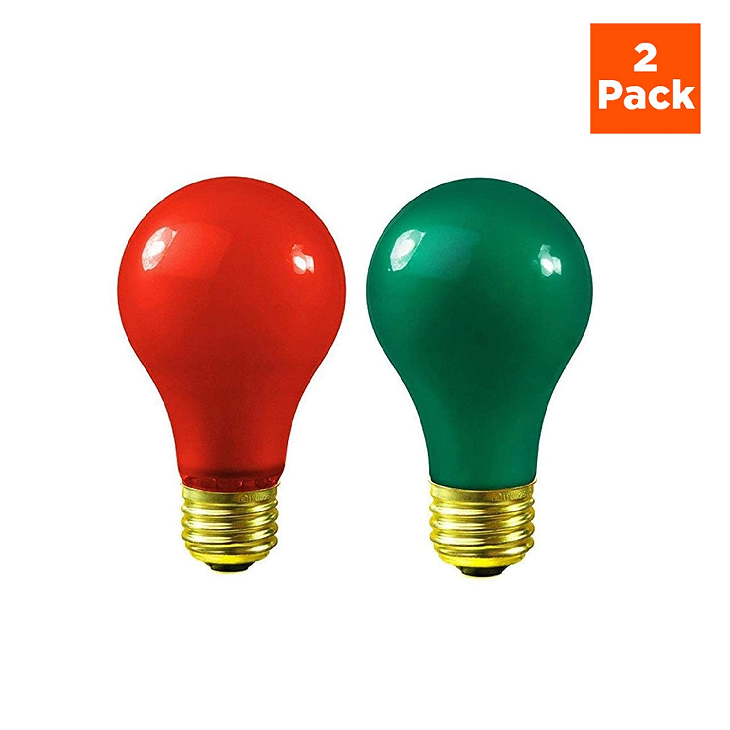 Christmas Light Bulbs.Christmas Light Bulbs 60 Watt Red And Green Light Bulbs Dimmable E26 Base By Goodbulb 60 Watt A19 2 Pack