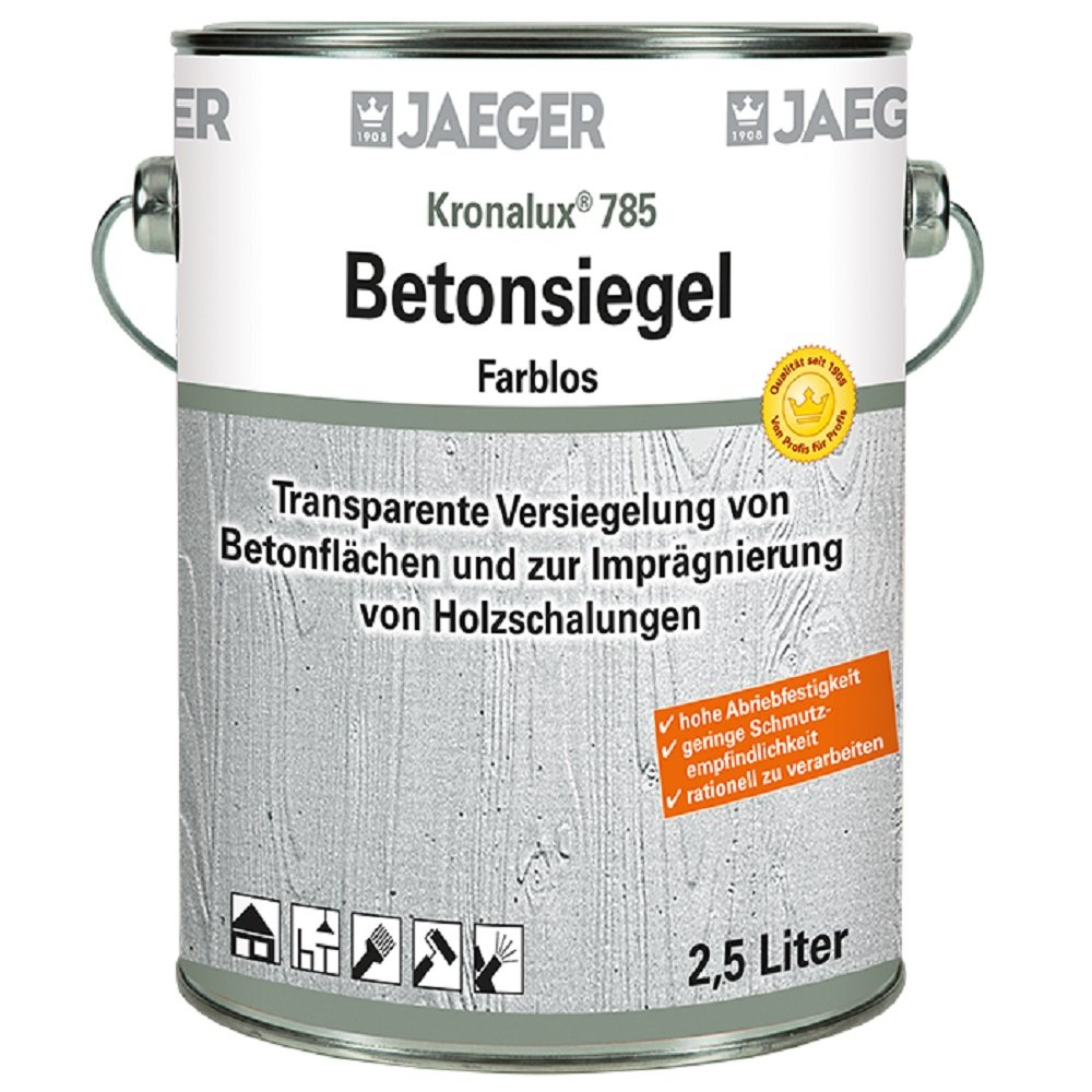 Jaeger Kronalux Betonsiegel, zur Imprä gnierung und Versiegelung, farblos 2,5Liter Paul Jaeger GmbH & Co. KG