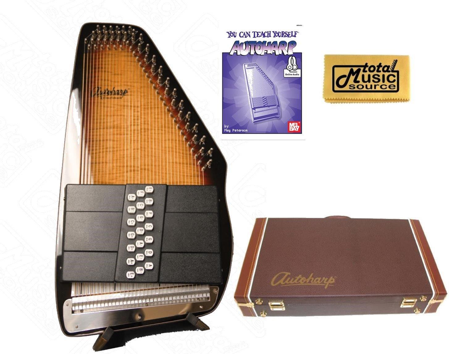 Oscar Schmidt 21 Chord Electric Autoharp, Passive Pickup, Gloss Finish, OS150FCE