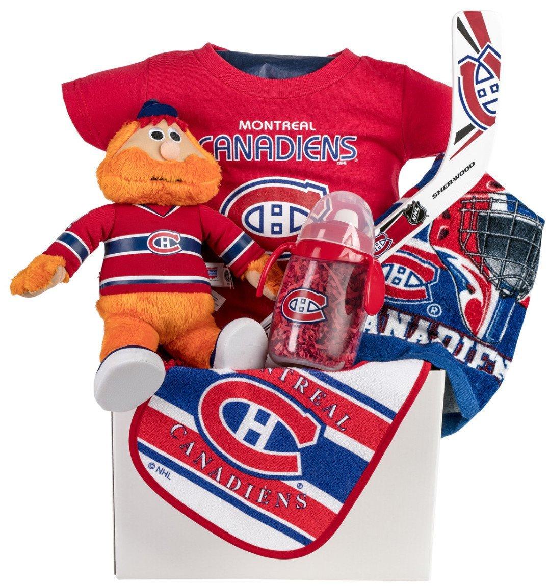 Montreal Canadian's Hab's Baby Gift Basket with Baby Essentials Pellatt Cornucopia