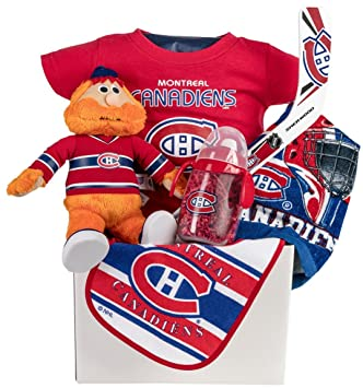 Image Unavailable. Image not available for. Color: Montreal Canadian's Hab's Baby Gift Basket ...