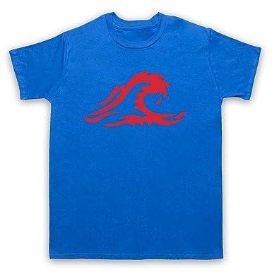 Inspiriert durch Die Welle The Wave Logo Unofficial Herren T-Shirt, Blau,  Small