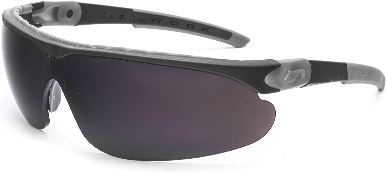 PEGASO 835.93.115 Gafas de Protección, Negro y Gris, L