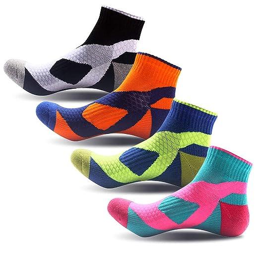 54e7b7faa15 Amazon.com   SPEEDITOP Men s Cycling Sock 4-5 Pack Low Cut Quarter ...