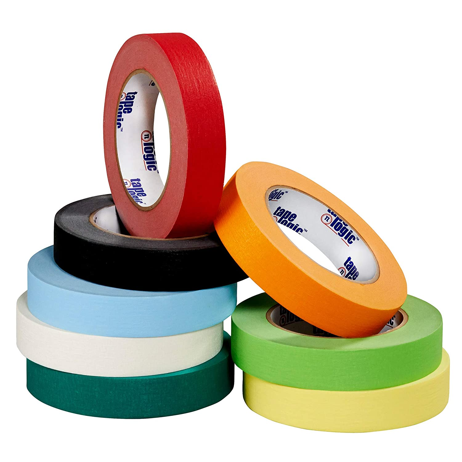 12//Case 1//2 x 60 yds Light Green Tape Logic Colored Masking Tape 4.9 Mil