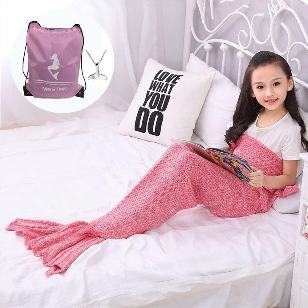 MOSTON Kid s Knitting Pattern Mermaid Tail Blanket c5c34a485
