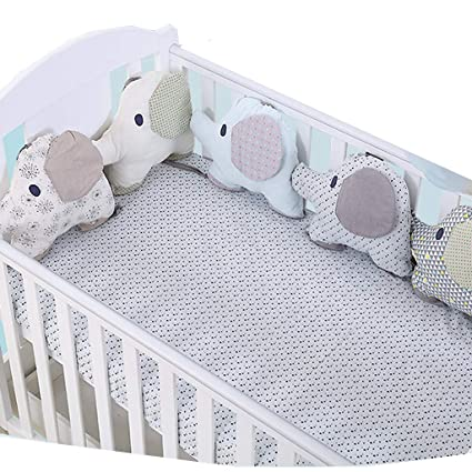 protector cuna,Creativo Baby Algodón Cot Liner Bumper, Adorable ...
