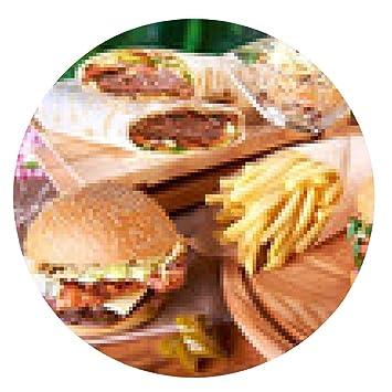 alfombrilla de ratón Sabrosa hamburguesa y papas fritas: Amazon.es: Electrónica