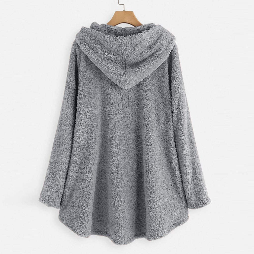 Holywin Sweat à Capuche Chaud Grande Taille pour Femmes Pull