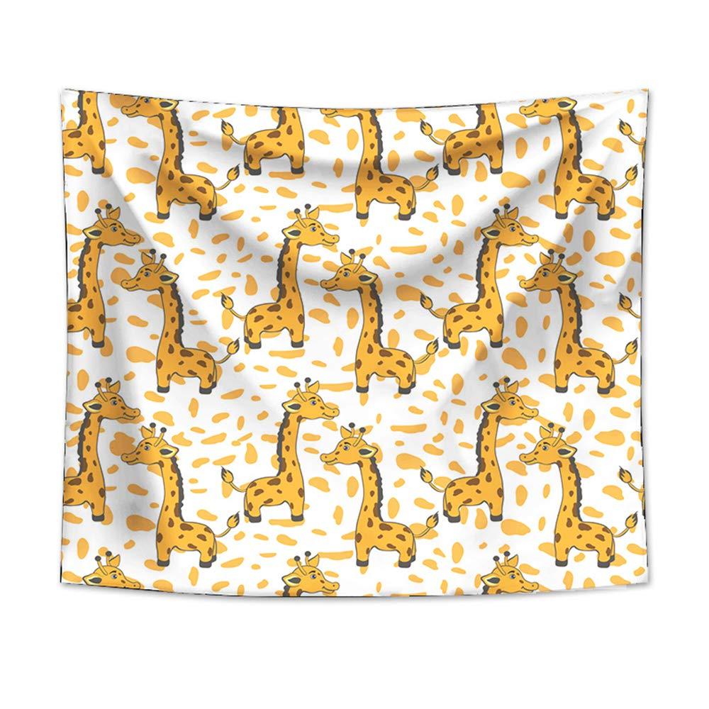 Girafe Simple Tenture Murale Couverture Voyage Ch/âle Serviette Drap de Plage Tapis de Yoga Nappe Tapis de Pique-Nique Couvre-lit Tapestry D/écoration 90x64cm,Prairie Odot Tapisserie Murale