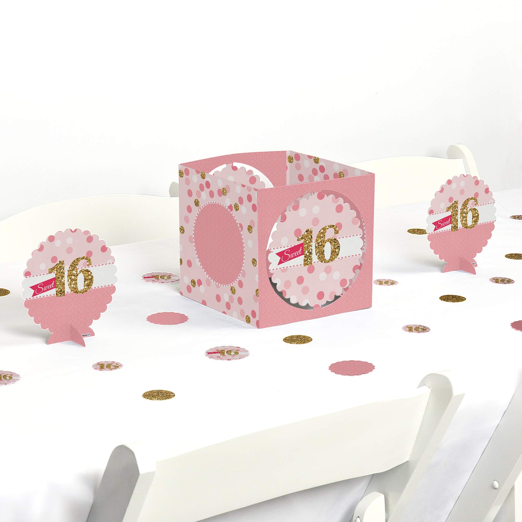 Big Dot of Happiness Sweet 16 - Birthday Party Centerpiece & Table Decoration Kit