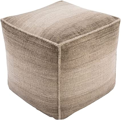 Remarkable Amazon Com Surya Contemporary Square Pouf Ottoman 18X18 Gmtry Best Dining Table And Chair Ideas Images Gmtryco