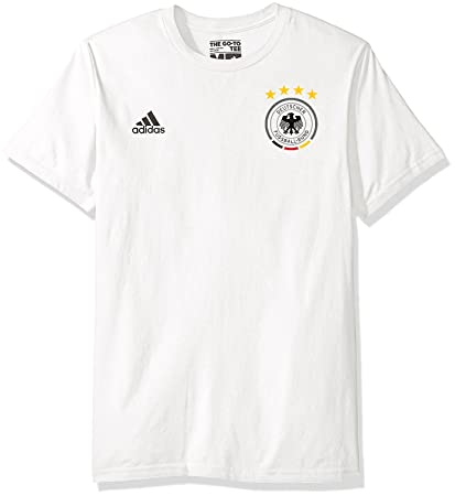 the latest 148c0 4f840 adidas Thomas Muller Germany National Team #10 Men's Player Name & Number  T-Shirt White