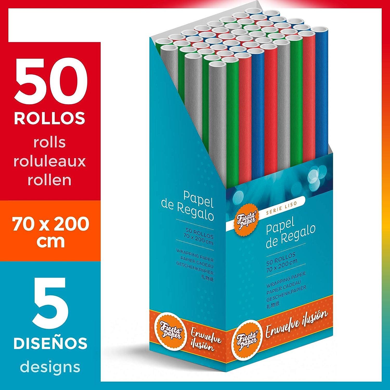 FP Fiesta Paper rollo grande 62cm x 100m /• AJEDREZ Azul /• Ideal para Tiendas Negocios Comercios Envolver regalos Cumplea/ños Baby Shower Infantil Decoraci/ón Bobina papel de regalo