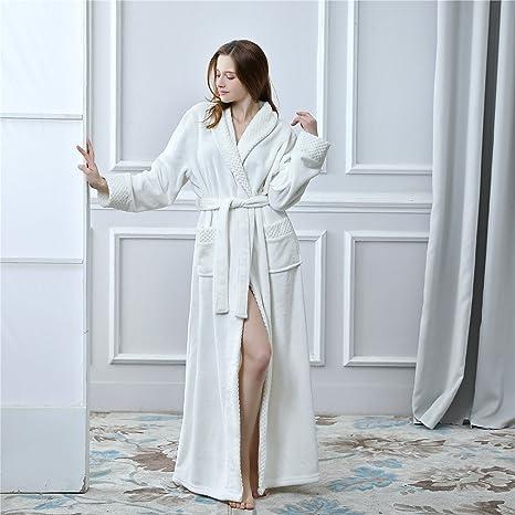 YAN Vestido de Mujer Franela Lujo Terry Toweling Batas de ...