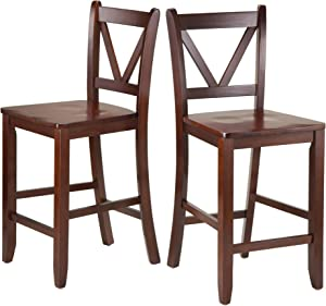 "Winsome Victor Stools, 24"", Brown"