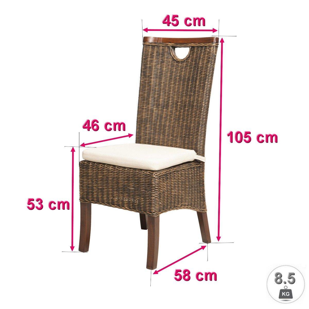 REBAJAS : -66% Lote de 6 sillas para comedor moka modernas y baratas RACINE: Amazon.es: Hogar