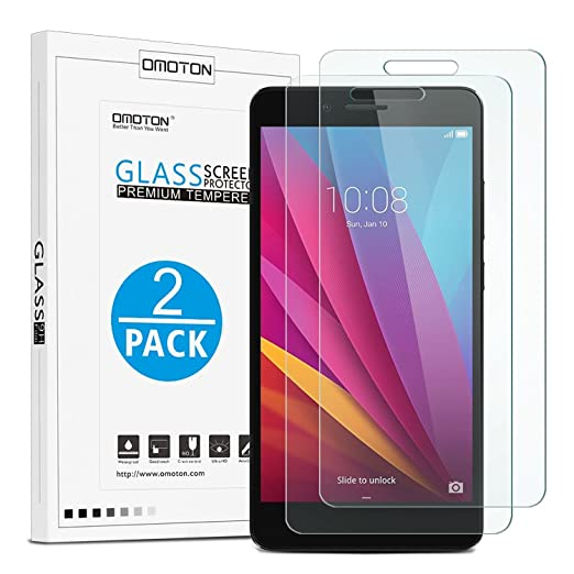 5 opinioni per OMOTON [2-Pack] Pellicole protettive per Huawei Honor 5X Pellicola in vetro