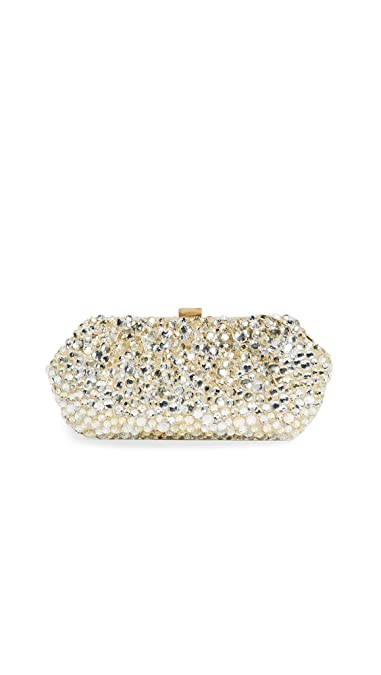 1b109deaab9d1 Santi Women's Gold and Silver Jeweled Clutch, Beige, One Size ...