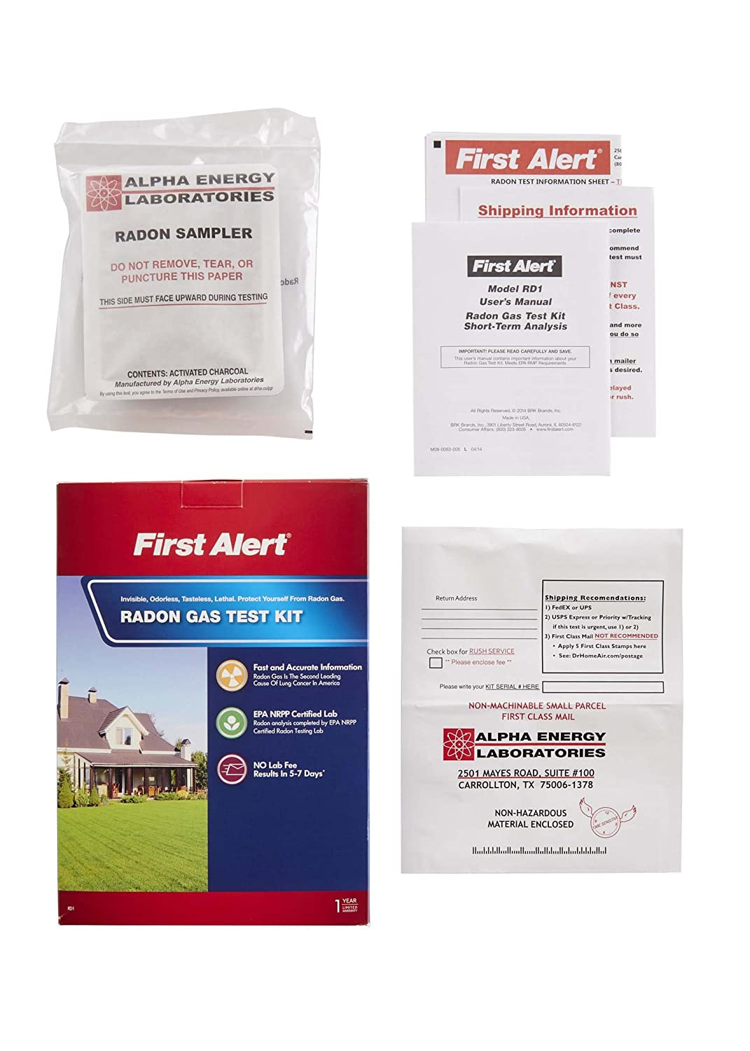 First alert rd1 radon gas test kit amazon solutioingenieria Images