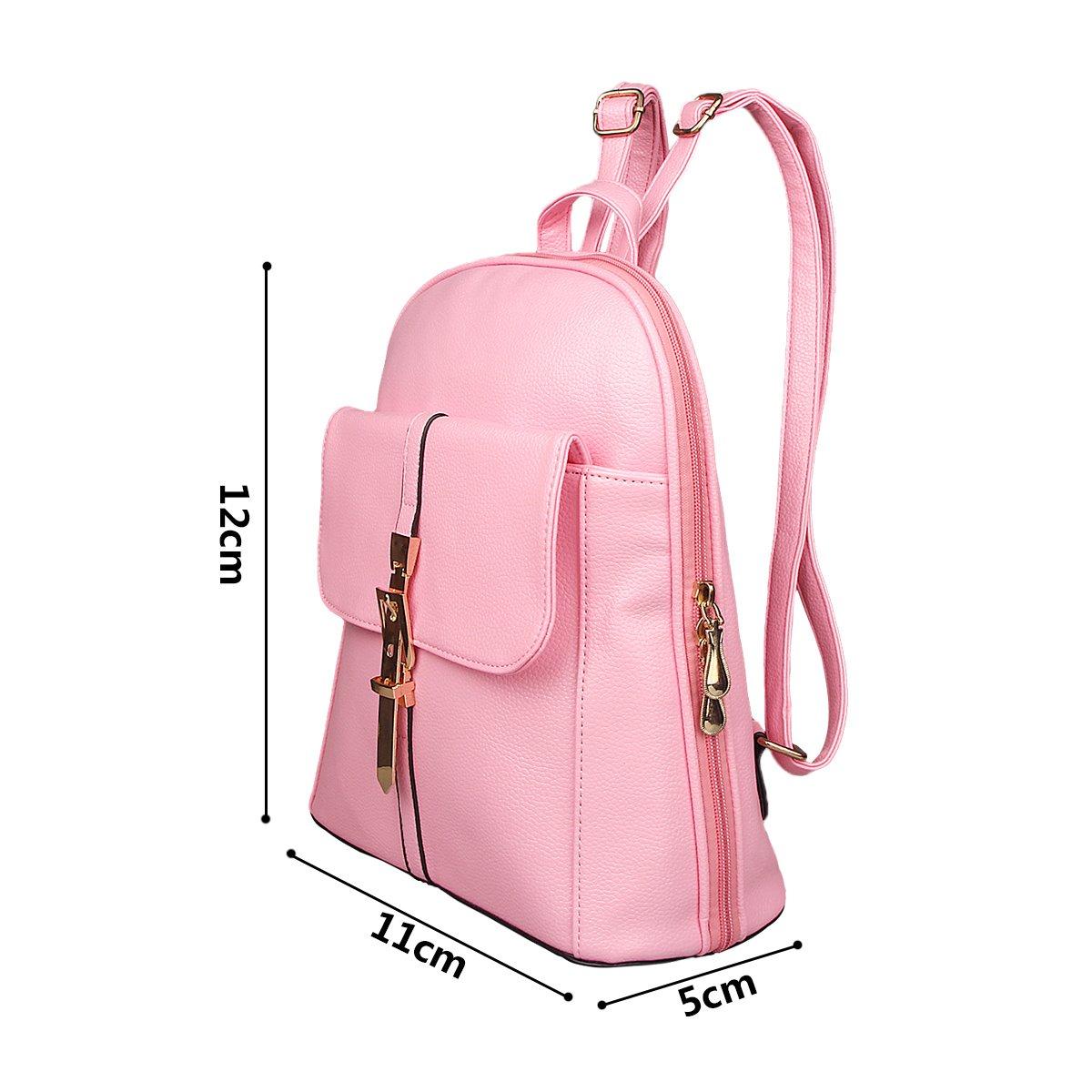 xhorizon TM FL1 Leather Mini School Bag Travel Backpack Rucksack Shoulder Bag Satchel (Navy) by xhorizon (Image #4)