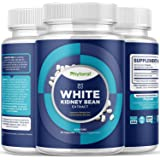 White Kidney Bean Energy Supplements - Pure White Kidney Bean Extract Pill with Amylase Enzyme and Natural Energy Pills for F