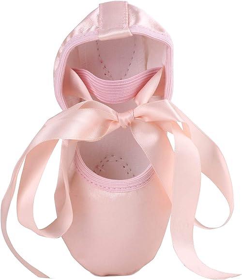Amazon.com: Lonsoen zapatillas de ballet de satén elástico ...