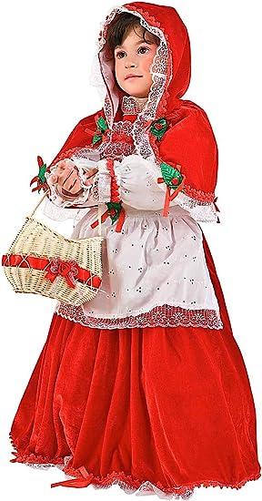 VENEZIANO Disfraz Caperucita ROJA EN Terciopelo Vestido Fiesta de ...