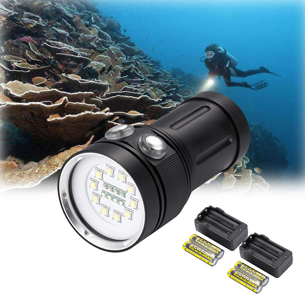 Offen New L2 Led 18650 Diving Flashlight Waterproof Under Water 100 Meters-a Camping & Outdoor Sport