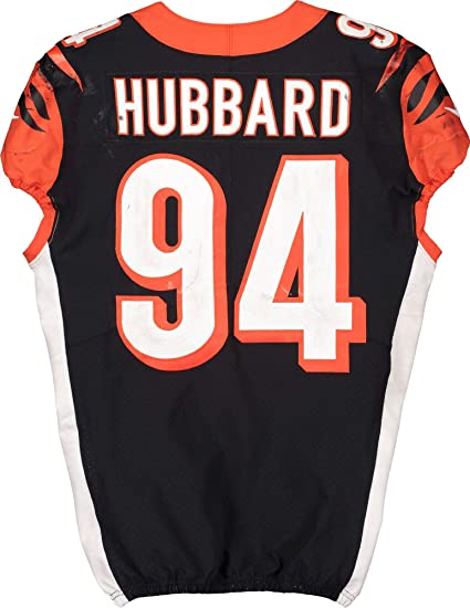 Sam Hubbard Cincinnati Bengals Game-Used #94 Black Jersey vs ...
