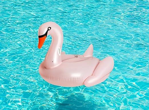 MALATEC Hinchable Cisne Aire Colchón Color Rosa Natación Animales ...
