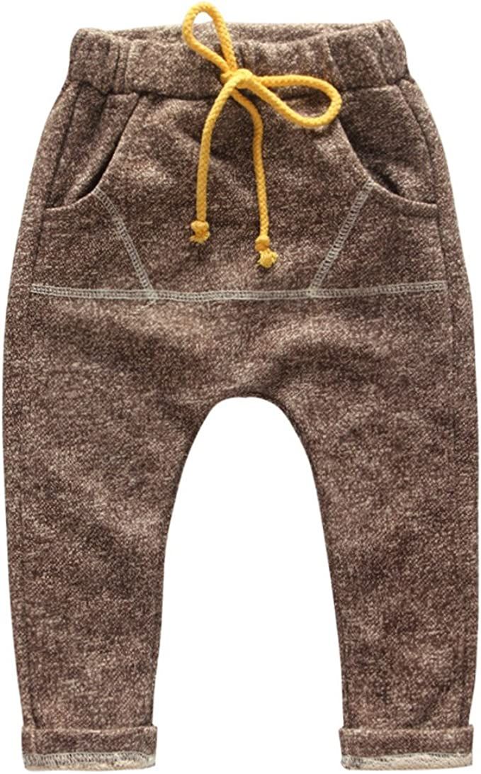 eTree Baby Boys Terry Cotton Loose Style Sports Harem Collapse Jogger Pants