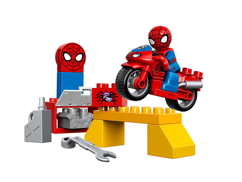 Amazon.com: LEGO DUPLO Spider Man Web Bike Workshop 10607 Spiderman Toy:  Toys U0026 Games
