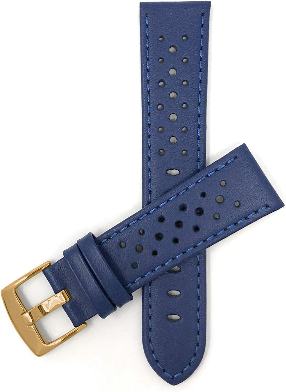 BAUMLEDER Uhrenarmband aus Kork Armband Uhrenband Natur 18 20 mm Breite Gold