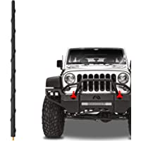 "KSaAuto 16"" Short Antenna Compatible with Jeep Wrangler JL JK JKU JLU Rubicon Unlimited Gladiator (2007-2021) | Flexible…"