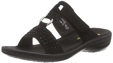 Rieker Damen 608K2 Pantoletten, Schwarz (schwarz 01), 42 EU  Amazon ... 95e0f51157