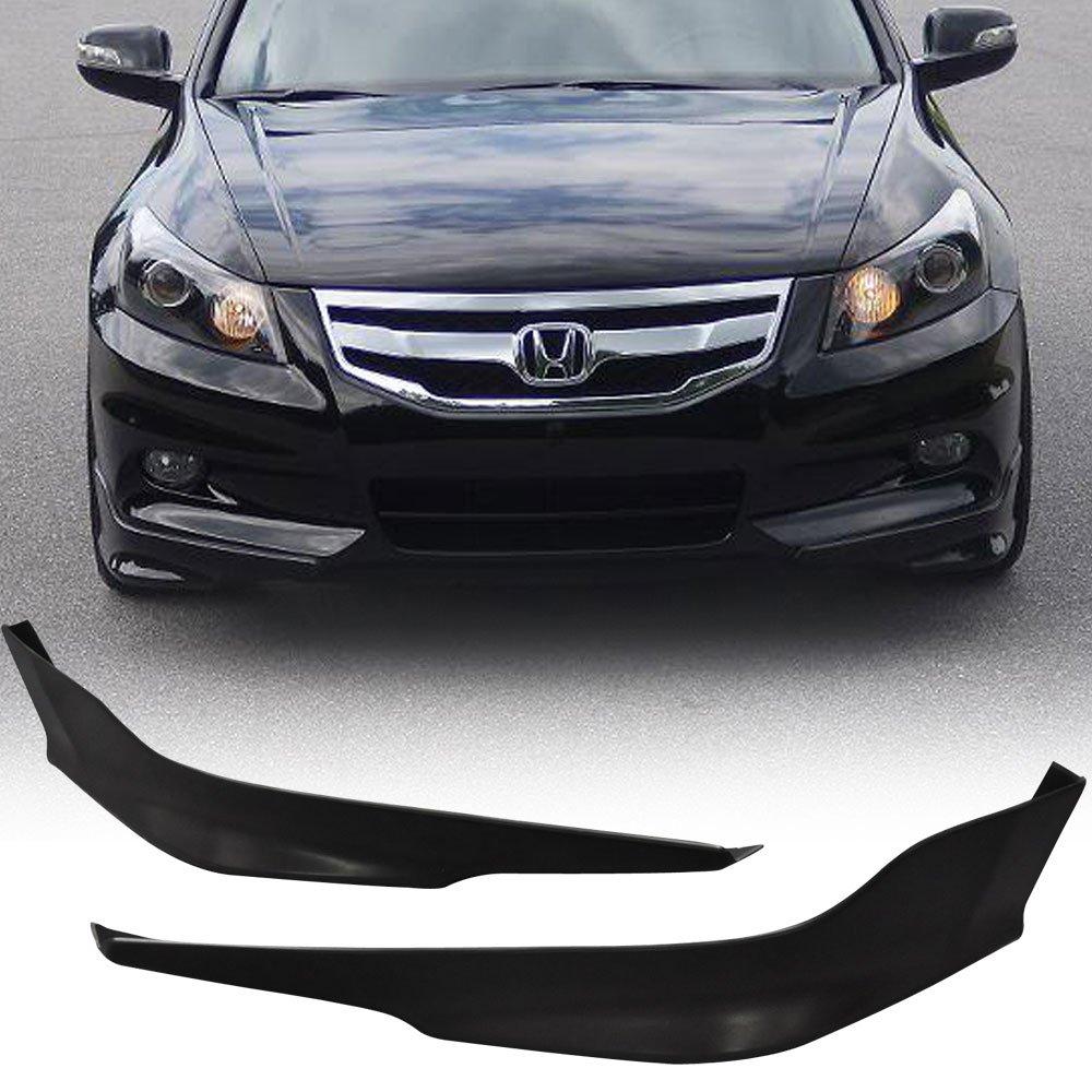 11-12 Honda Accord 4dr Sedan OE-Type Urethane Add-On Front Bumper Lip Spoiler Bodykit IKON MOTORSPORTS
