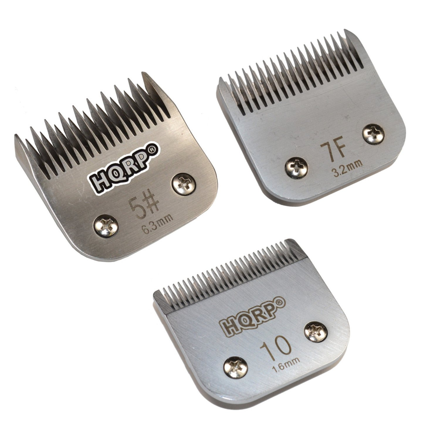HQRP 3pcs Kit: Clipper Blades - Sizes 5 / 7F /10 - for Dog Grooming Clipping Trimming - Scottish/Airedale & Welsh Terrier, Miniature Schnauzer, Bedlington Terrier etc Coaster
