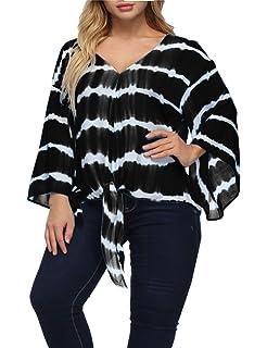 Amazon.com: Shiaili Blusas bohemias para mujer, talla grande ...